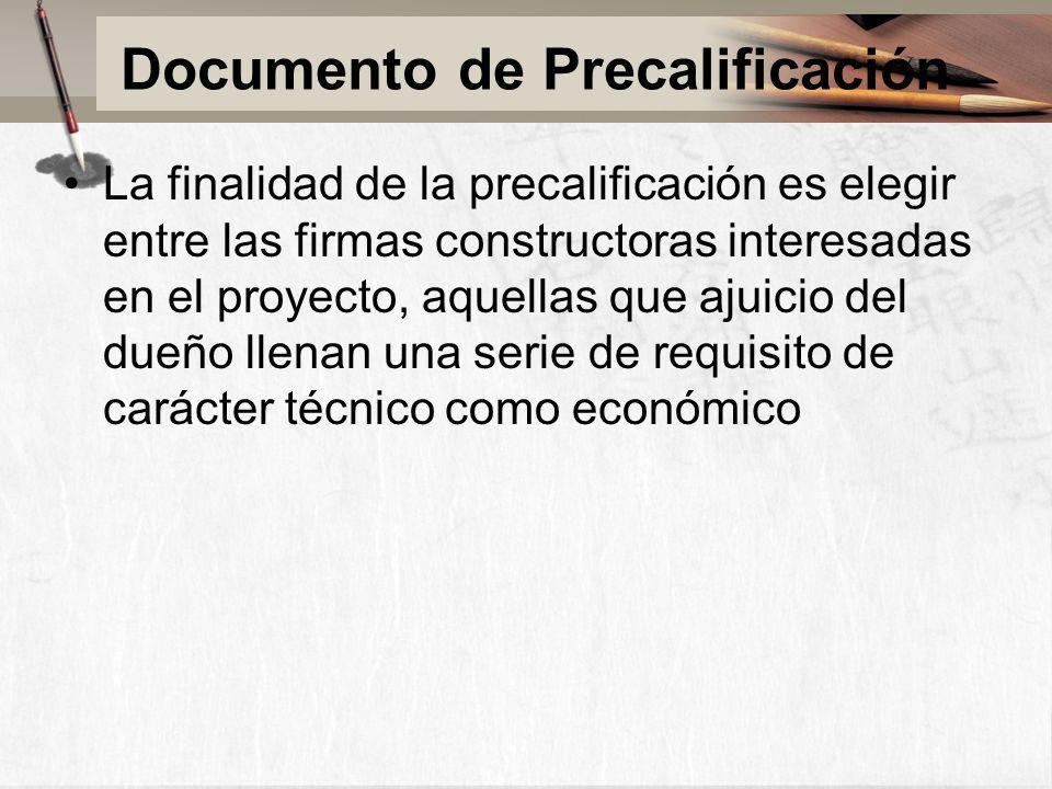 Documento de Precalificación