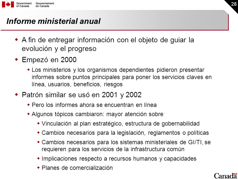 Informe ministerial anual