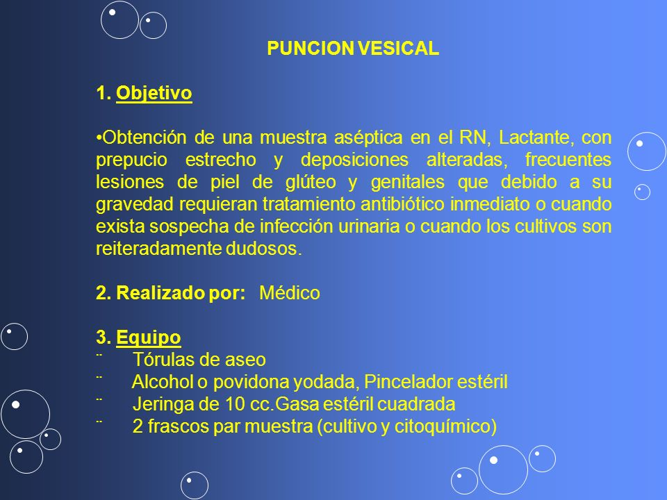 PUNCION VESICAL 1. Objetivo.