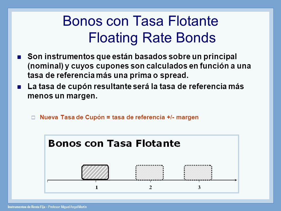 Bonos con Tasa Flotante Floating Rate Bonds