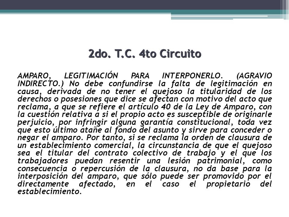 2do. T.C. 4to Circuito