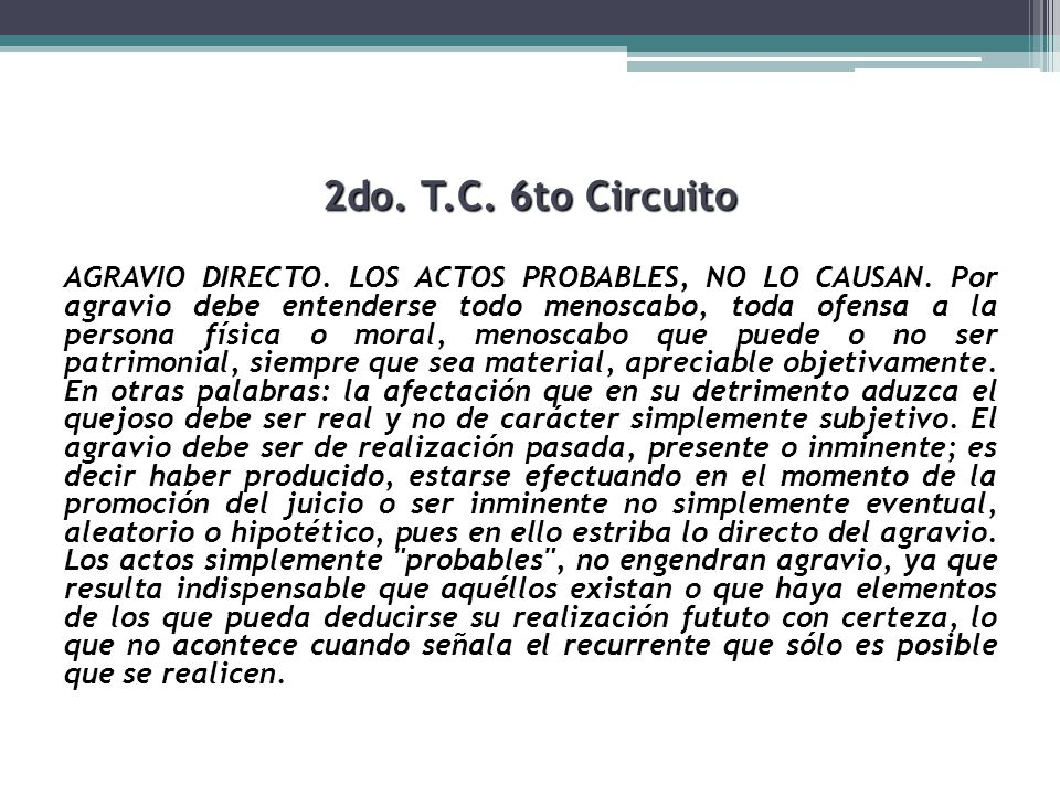 2do. T.C. 6to Circuito