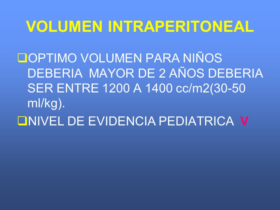 VOLUMEN INTRAPERITONEAL