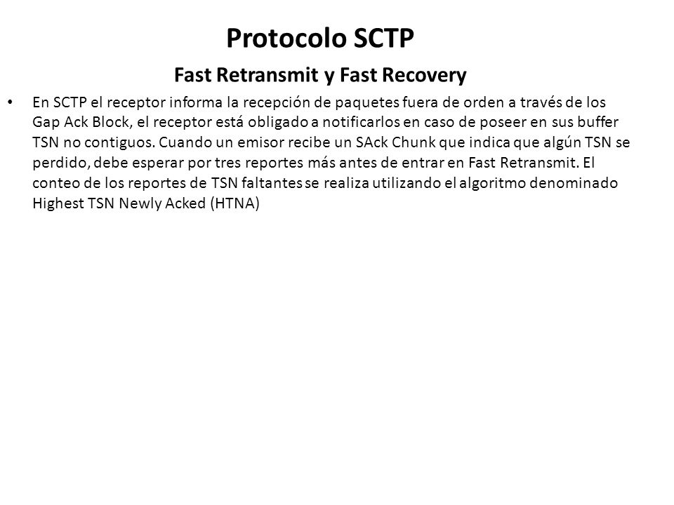 Fast Retransmit y Fast Recovery