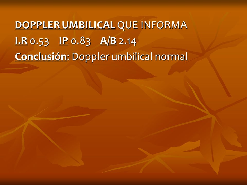 DOPPLER UMBILICAL QUE INFORMA