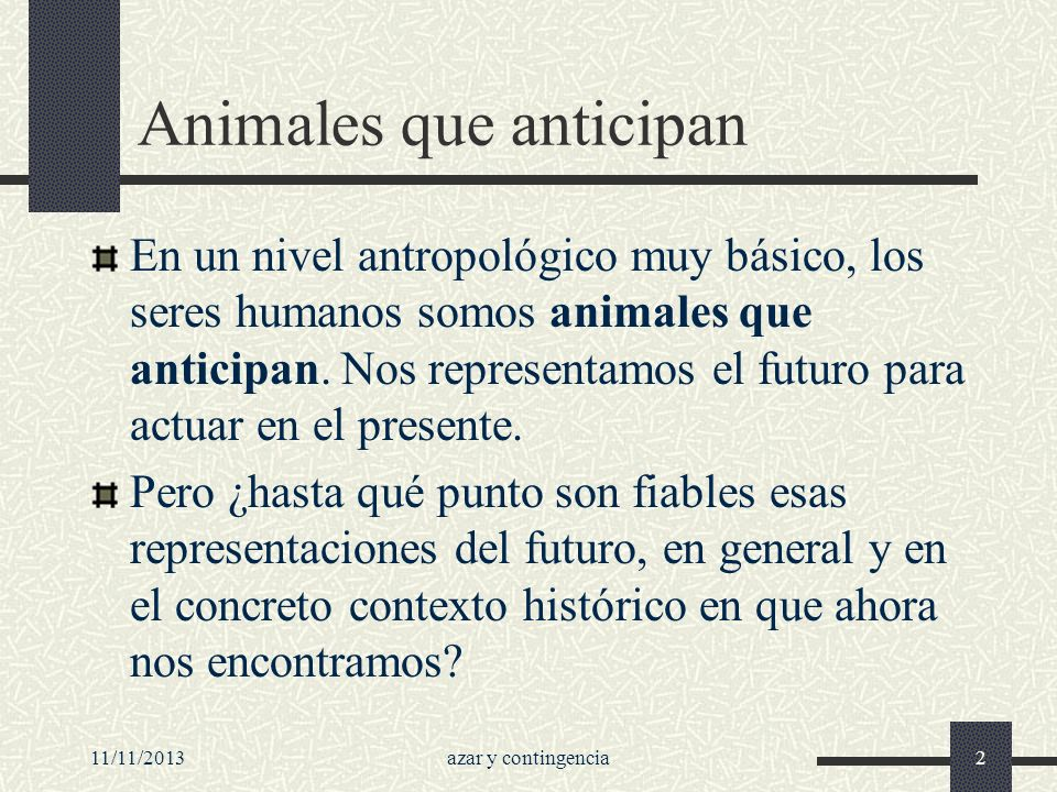 Animales que anticipan