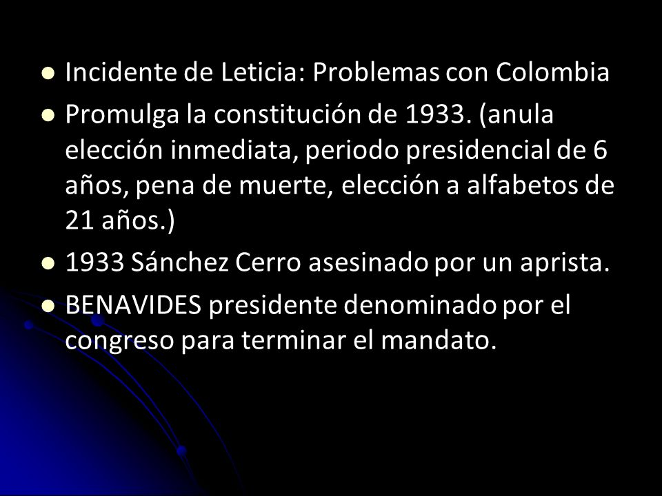 Incidente de Leticia: Problemas con Colombia