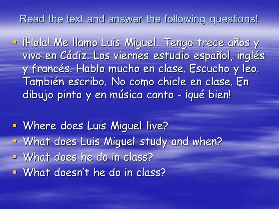 Read the text and answer the following questions!