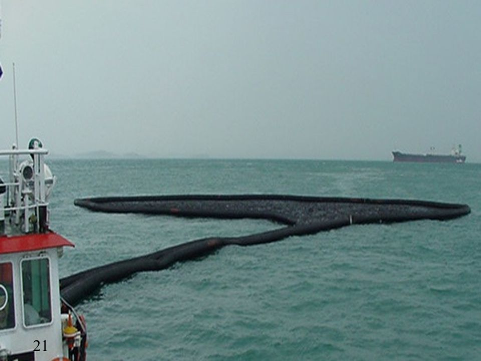 Floating barriers to round the oil spot