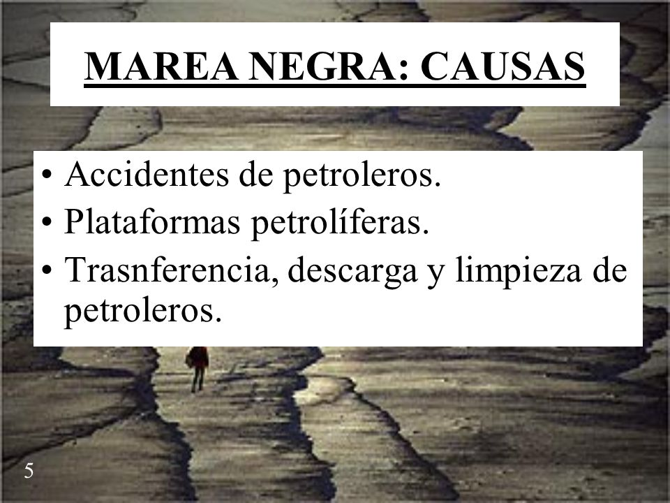 MAREA NEGRA: CAUSAS Accidentes de petroleros.