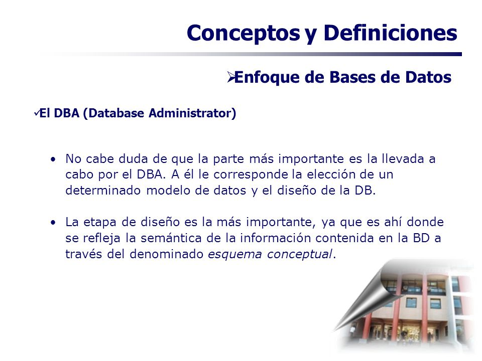 El DBA (Database Administrator)