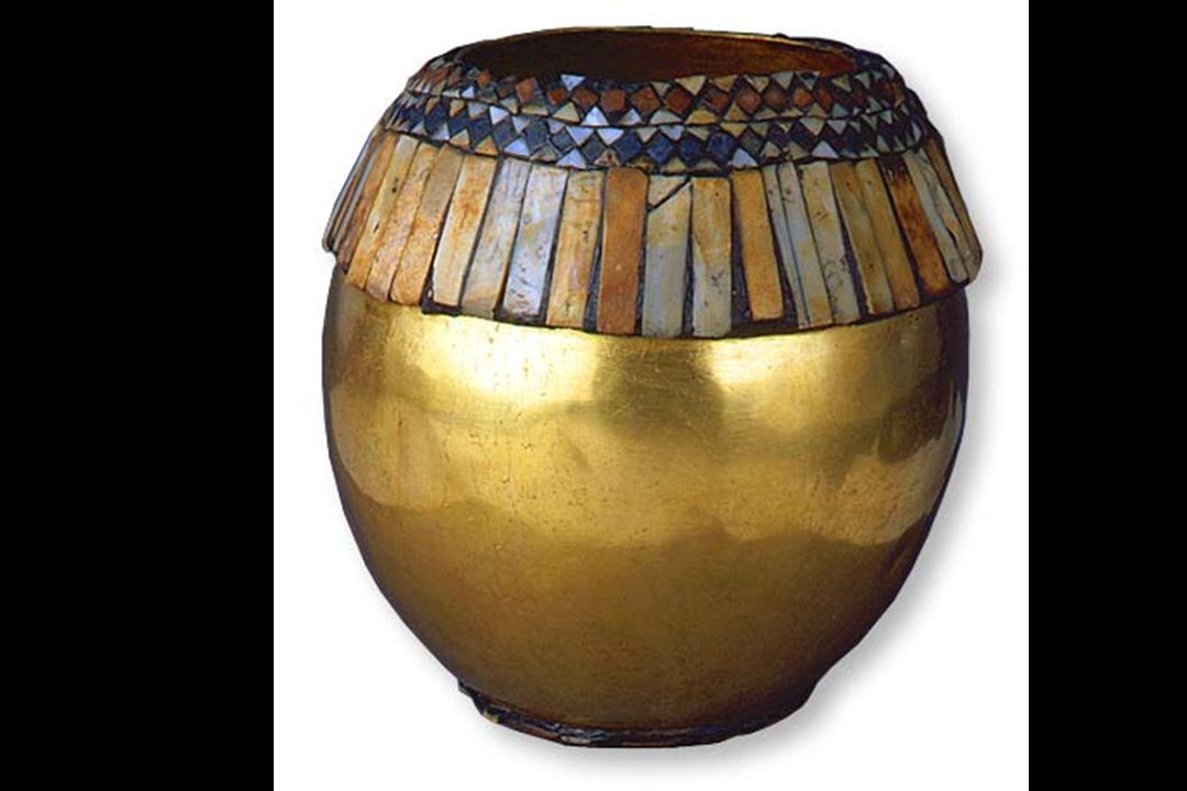 Gold Vessel in the Form of an Ostrich Egg Ur, Iraq, ca. 2650–2550 B. C