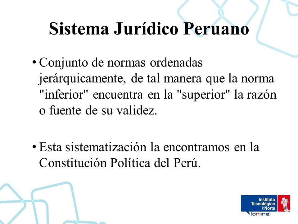 Estructura Del Sistema Jurídico Peruano Introducción Al