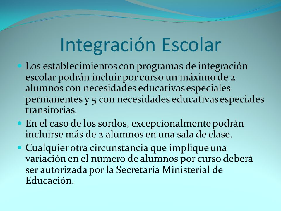 Integración Escolar