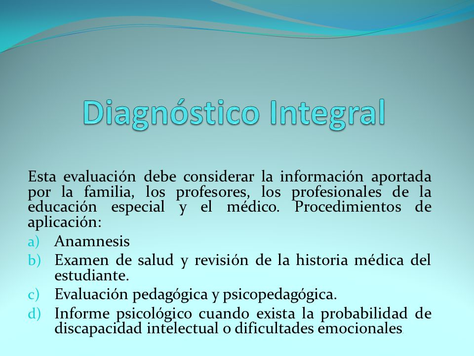Diagnóstico Integral