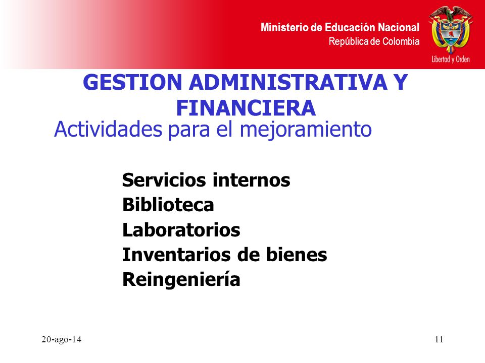GESTION ADMINISTRATIVA Y FINANCIERA