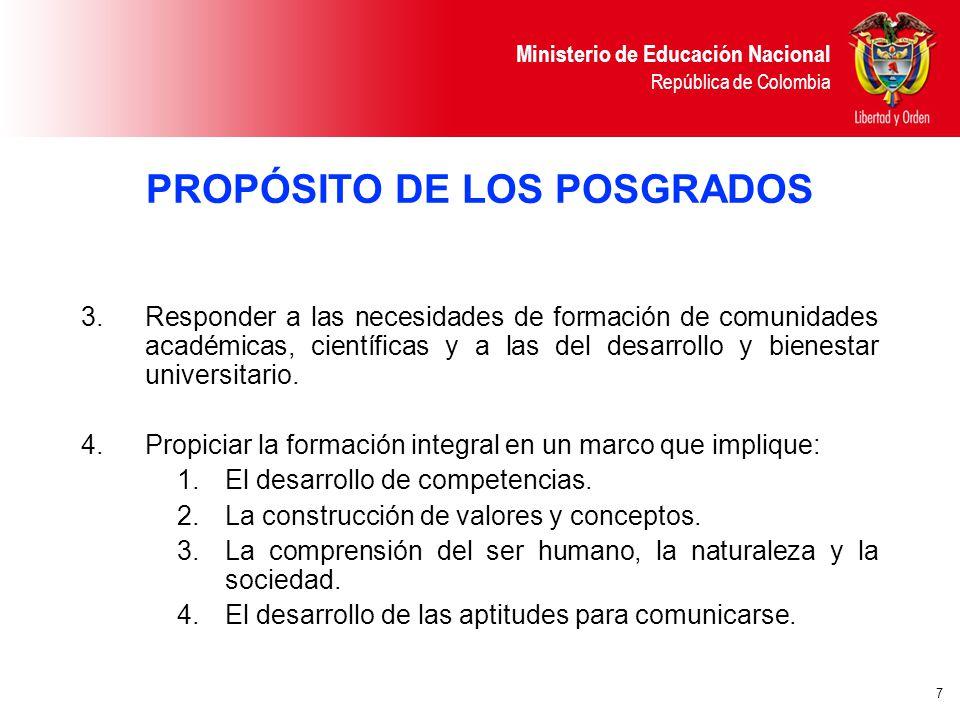 MINISTERIO DE EDUCACIÓN NACIONAL República de Colombia - ppt descargar