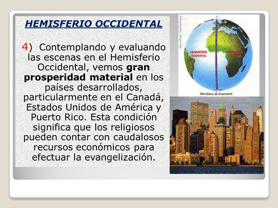 HEMISFERIO OCCIDENTAL