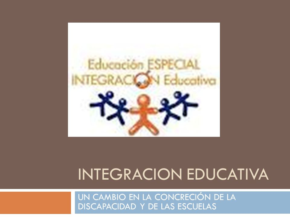 INTEGRACION EDUCATIVA