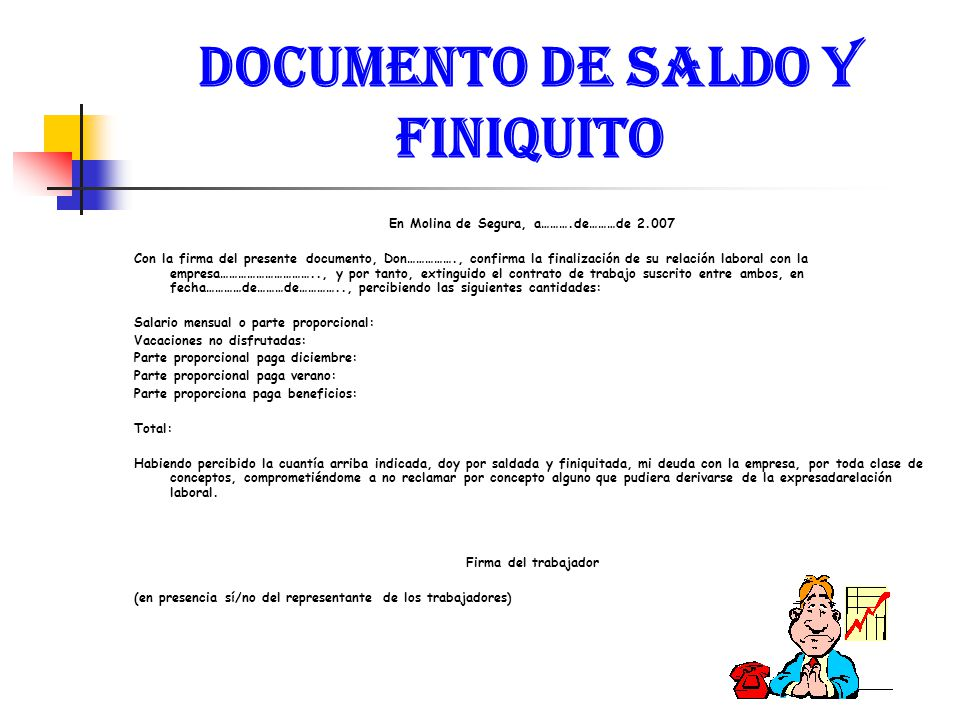 DOCUMENTO DE SALDO Y FINIQUITO