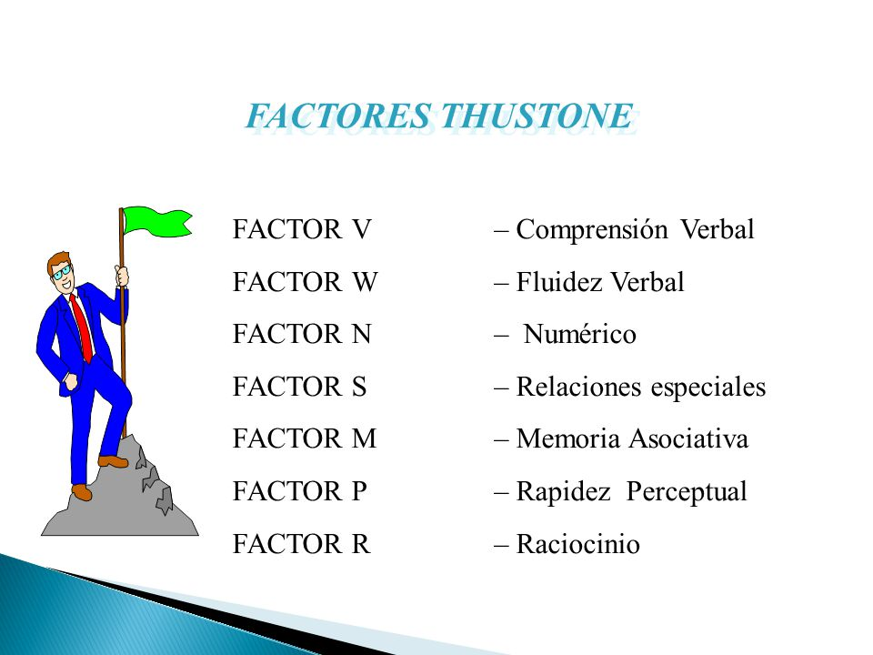 FACTORES THUSTONE FACTOR V – Comprensión Verbal