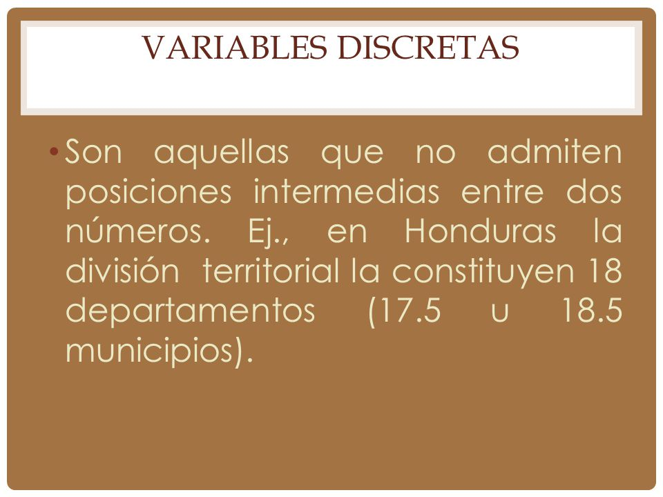 Variables Discretas