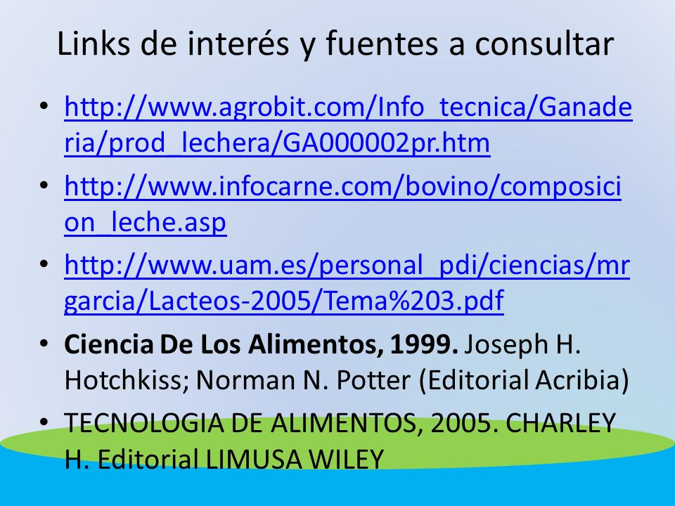 Links de interés y fuentes a consultar