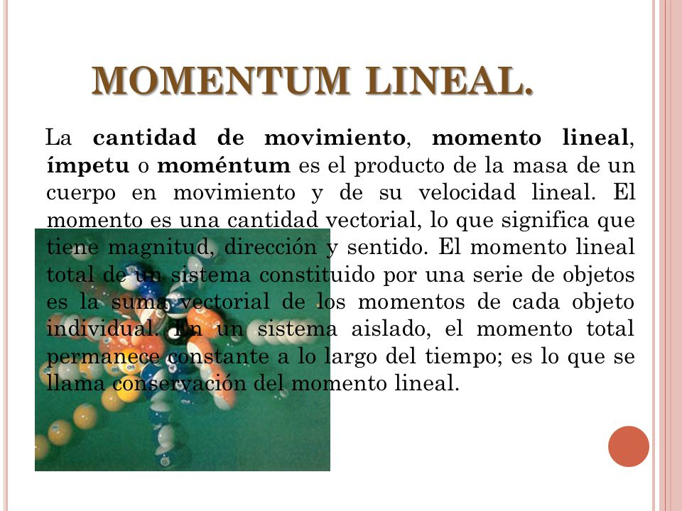 MOMENTUM LINEAL.