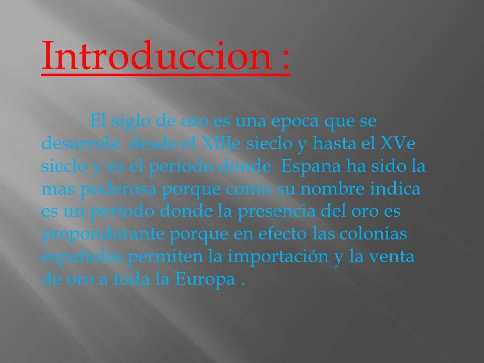 Introduccion :