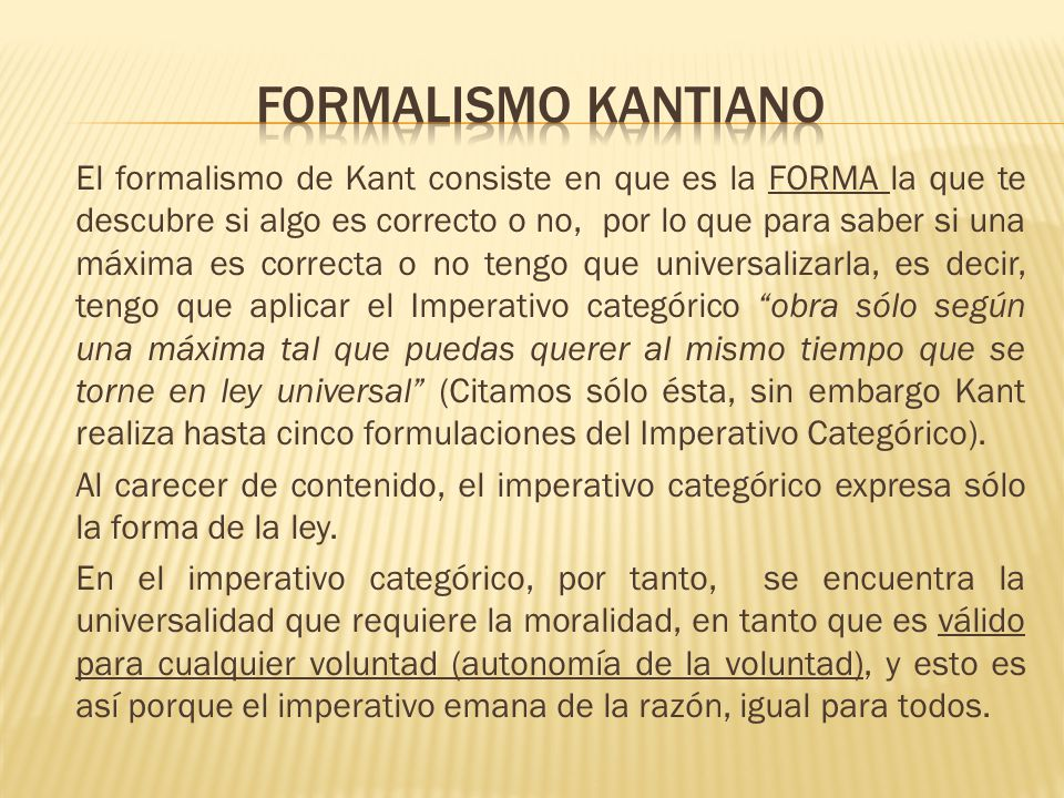 Formalismo kantiano