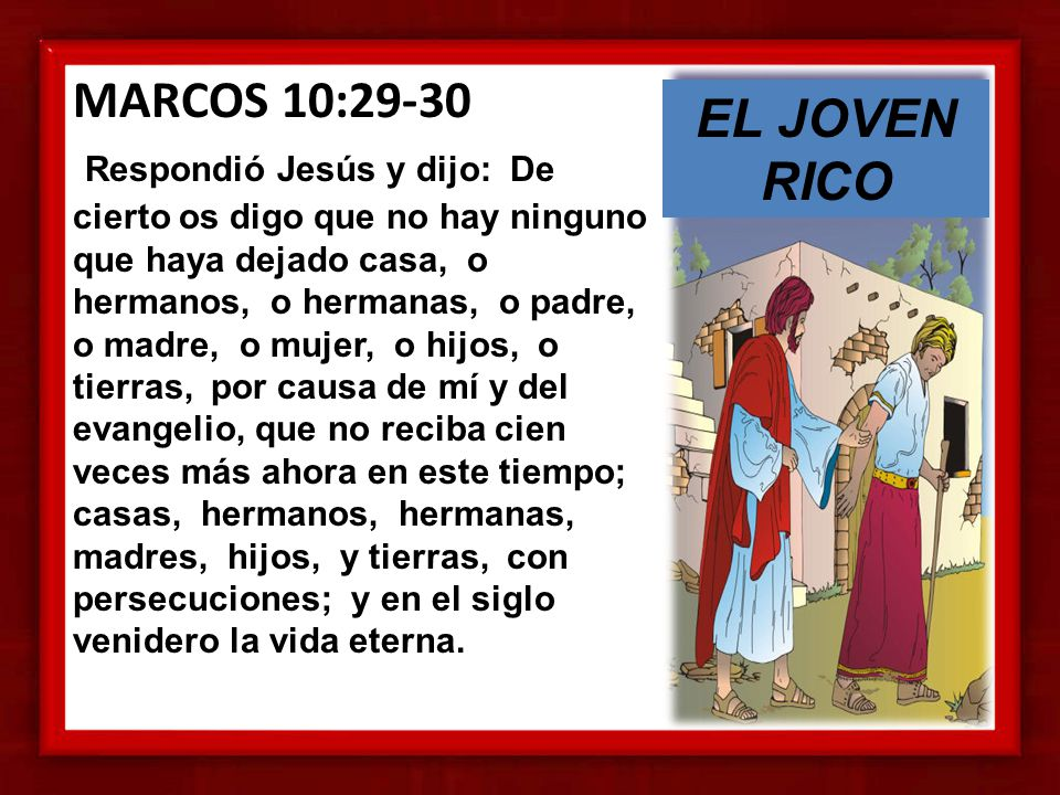 MARCOS 10:29-30