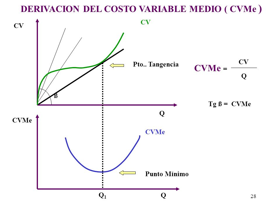 DERIVACION DEL COSTO VARIABLE MEDIO ( CVMe )
