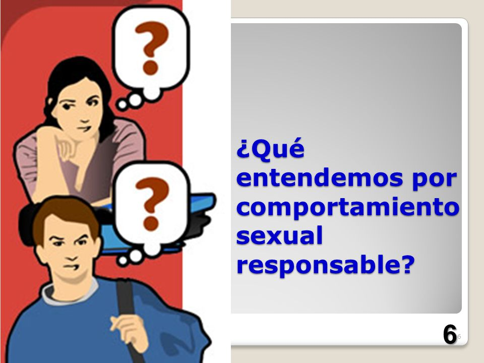 ¿Qué entendemos por comportamiento sexual responsable