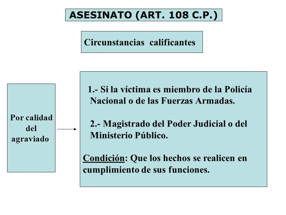 Circunstancias calificantes