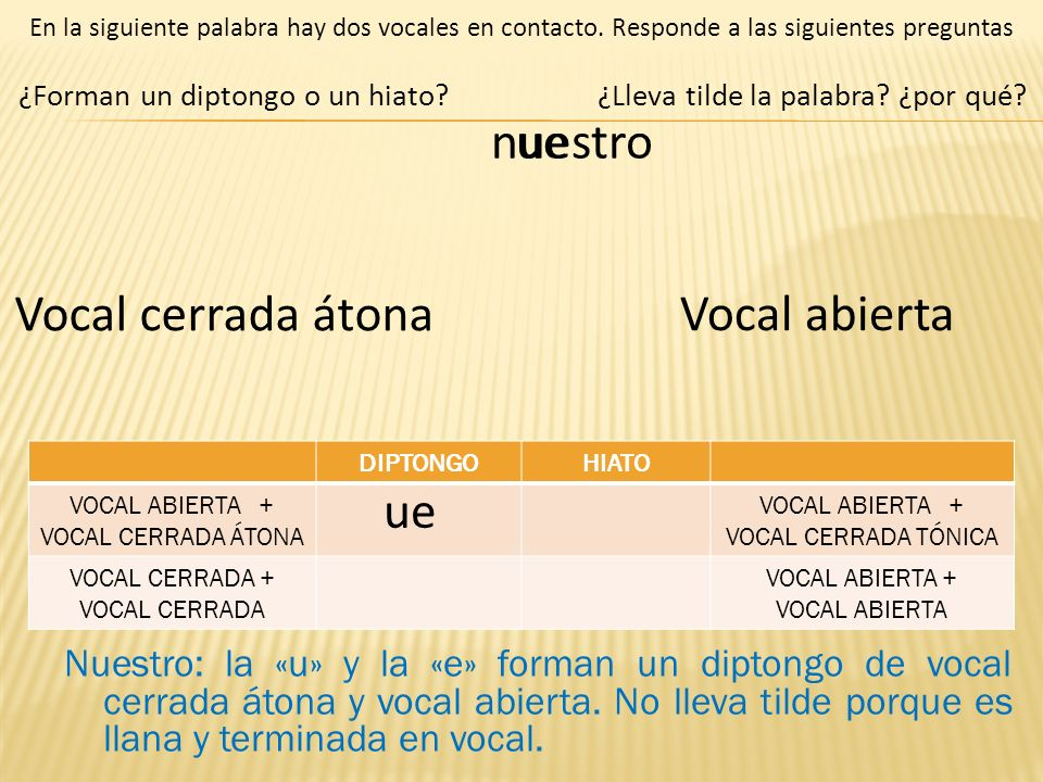 VOCAL ABIERTA + VOCAL CERRADA ÁTONA