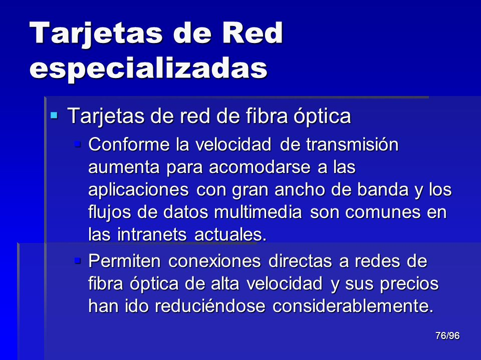 Tarjetas de Red especializadas