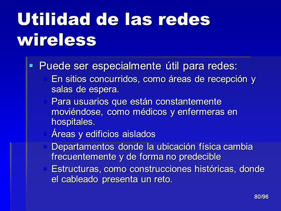 Utilidad de las redes wireless