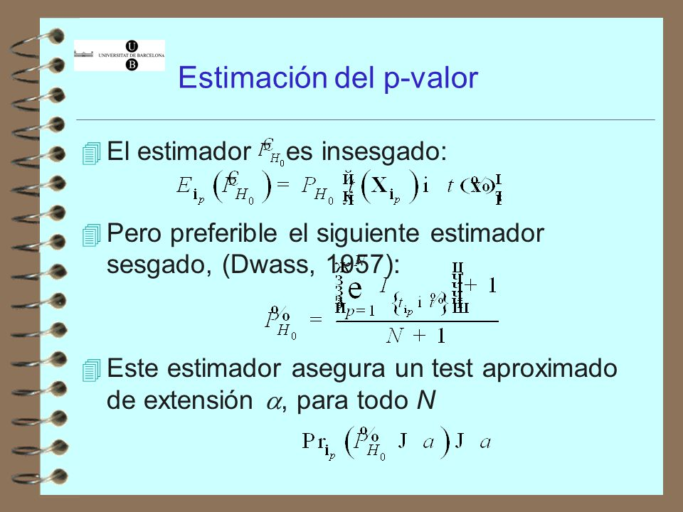 Estimación del p-valor