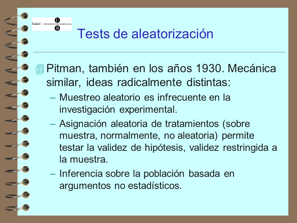 Tests de aleatorización