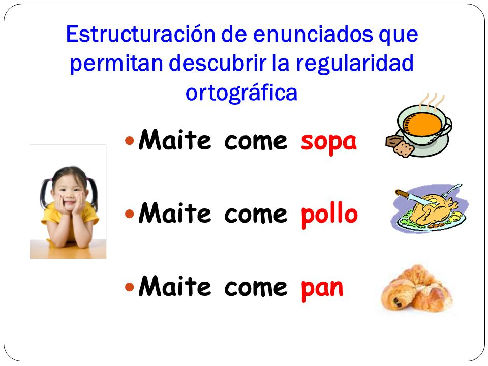 Maite come sopa Maite come pollo Maite come pan