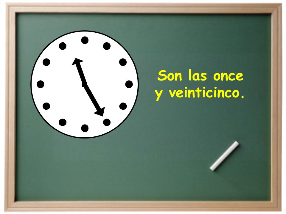 Son las once y veinticinco.