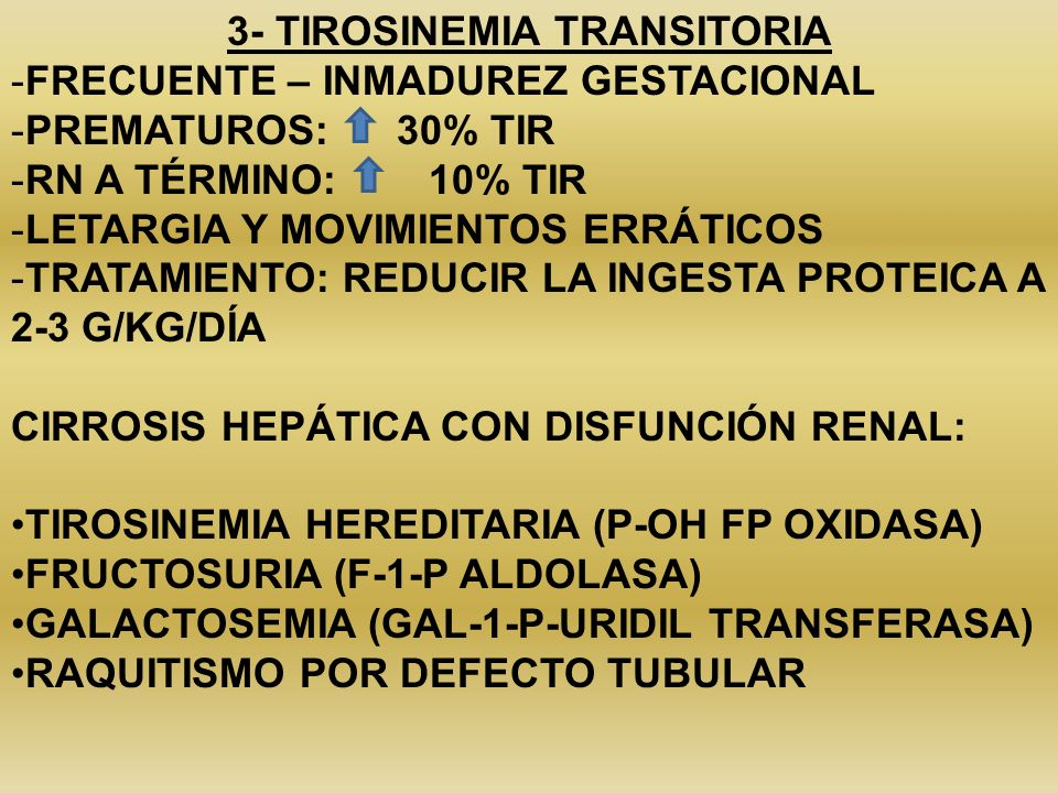 3- TIROSINEMIA TRANSITORIA