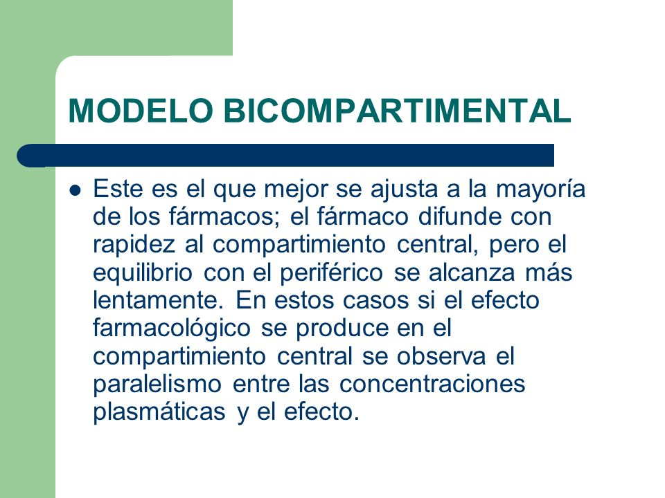 MODELO BICOMPARTIMENTAL