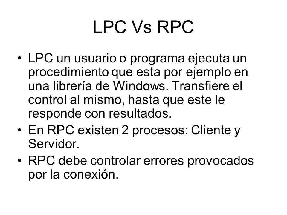 LPC Vs RPC
