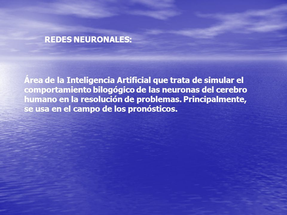 REDES NEURONALES: