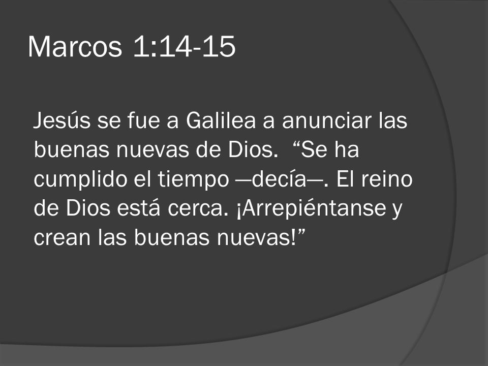 Marcos 1:14-15