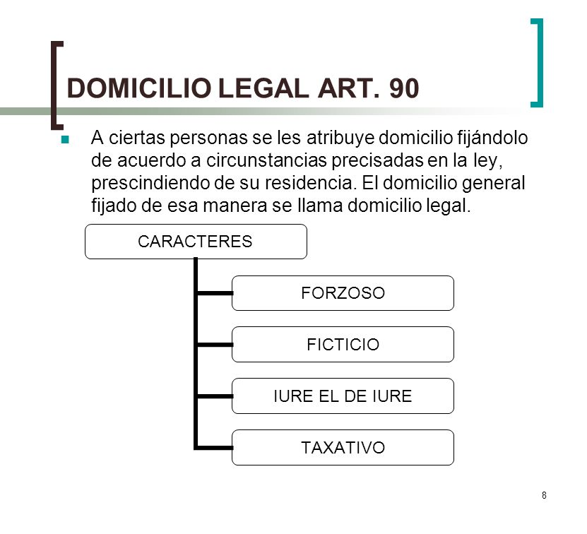 DOMICILIO LEGAL ART. 90