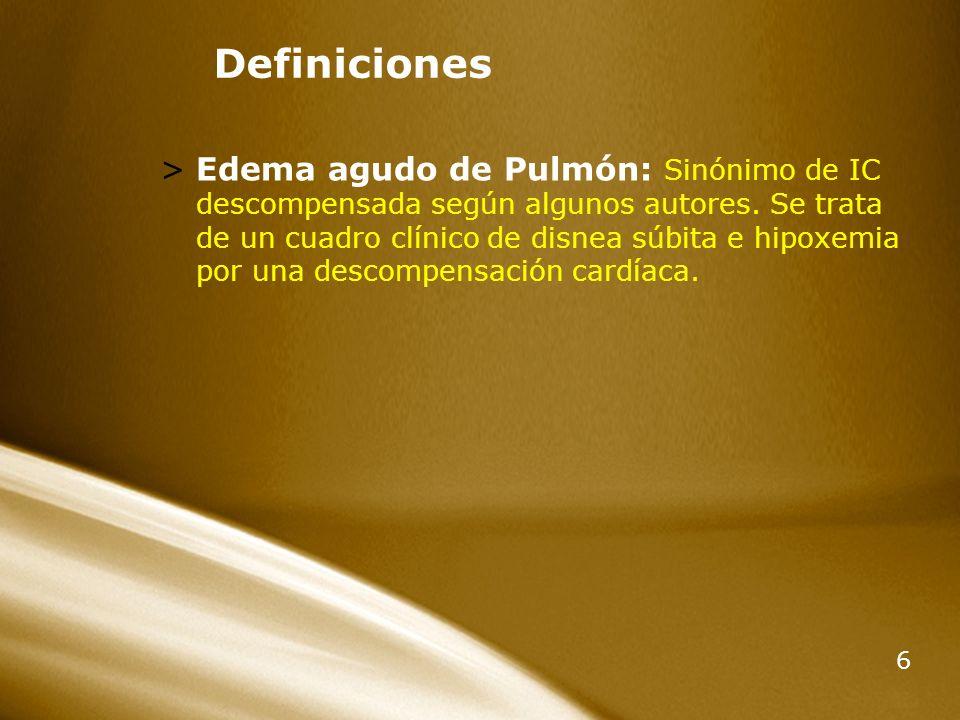 Insuficiencia Cardiaca Descompensada Y Edema Agudo De Pulmon Ppt