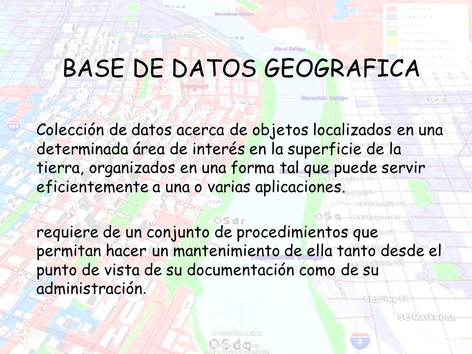 BASE DE DATOS GEOGRAFICA