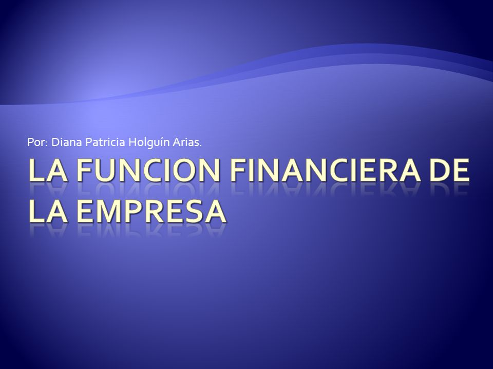 LA FUNCION FINANCIERA DE LA EMPRESA